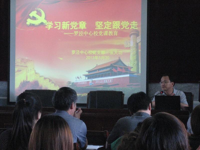 """罗泾中心校组织""""学习新党章,坚定跟党走""""党课教育活动"""